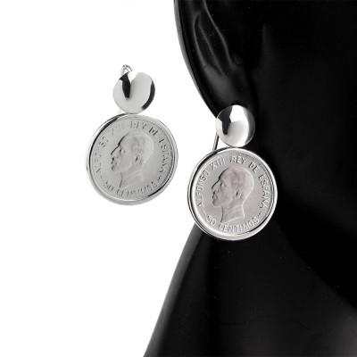 Pendientes con Monedas 50 céntimos Alfonso XIII