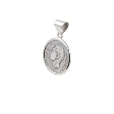 Colgante Moneda 0.50 cent. Alfonso XII 18XX