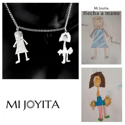 Collar personalizado con dibujos de los niños
