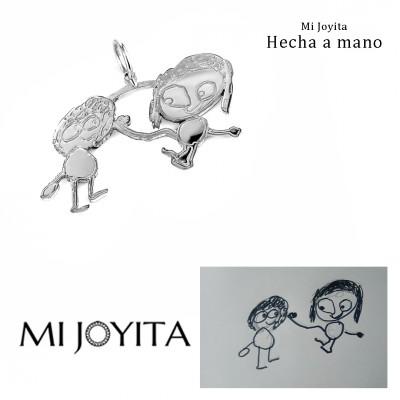 Colgante personalizado con dibujos de los niños