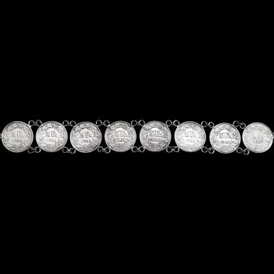Pulsera con monedas Suiza