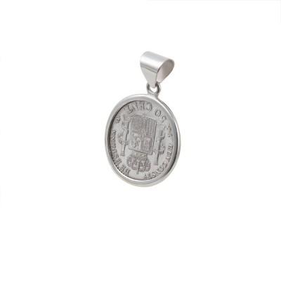 Colgante Moneda 0.50 cent. Alfonso XII 1880 Moneda de Plata Española.  Colgante Moneda 0.50 cent. Alfonso XII 18XX