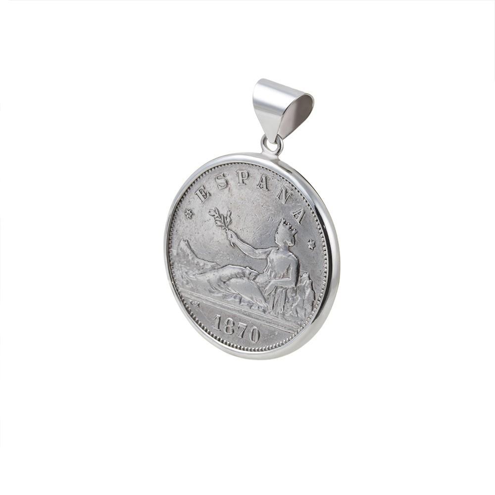 Colgante Moneda 1870  2 pesetas
