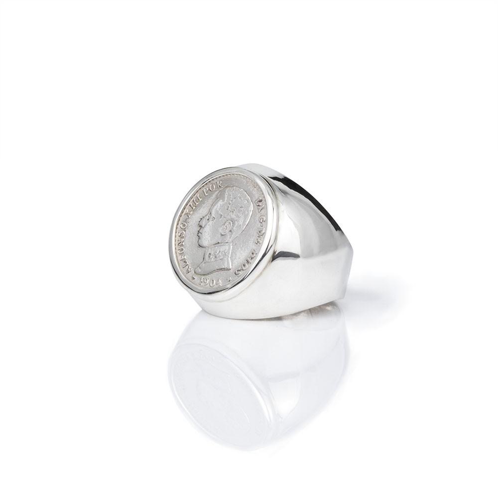 dcfbe89576fa Sello con moneda Alfonso XIII. Antigua y Autentica. Plata de primera ley.